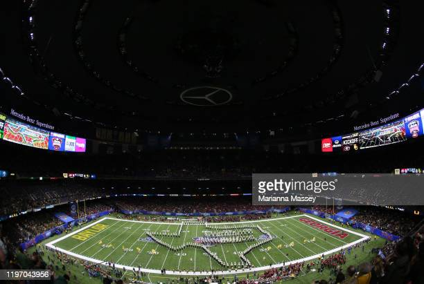 The Golden Wave Band play during the Allstate Sugar Bowl at Mercedes Benz Superdome on January 01, 2020 in New Orleans, Louisiana.