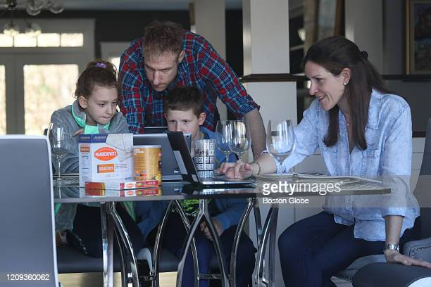 The Goldwasser family Matthew JulieSue Ari Alison have a Zoom rehearsal for their seder which they will be having virtually with other families at...