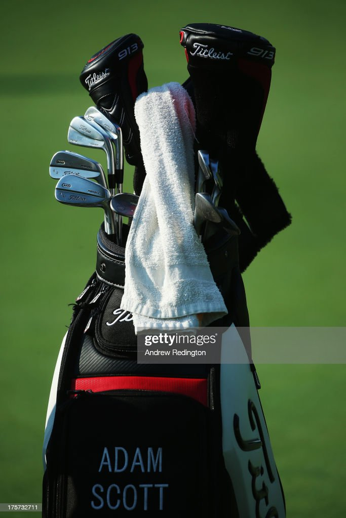 The Golf Bag Of Adam Scott Is Seen During A Practice Round Prior To