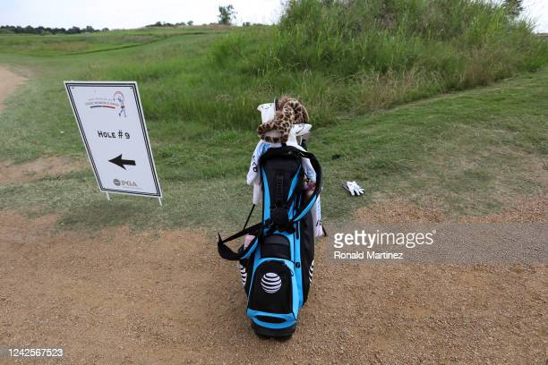 The golf bag of Maria Fassi of Mexico sits near the 9th tee during the first round of the Energy Producers Inc Texas Women's Open on June 02 2020 in...