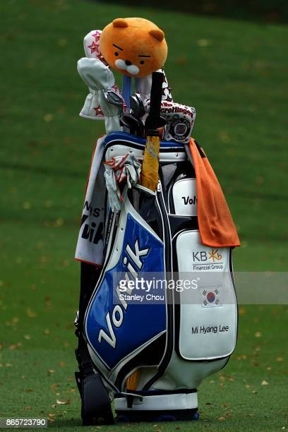 The golf bag of Mi Hyang Lee of South Korea on the 9th hole during the Sime Darby LPGA Malaysia Official Practice on October 24 2017 in Kuala Lumpur...