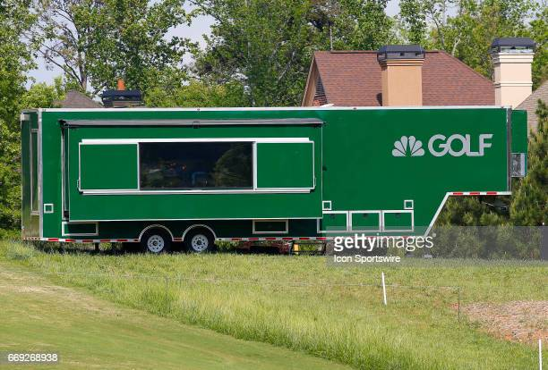 The Golf Channel TV center during the final round of the Mitsubishi Electric Classic tournament at the TPC Sugarloaf Golf Club Sunday April 16 in...