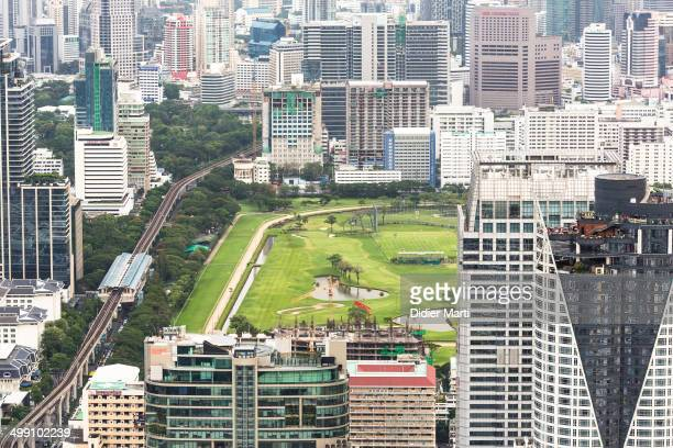 CONTENT] The golf course right in the heart of Bangkok city with the BTS line on its left Bangkok is Thailand capital city