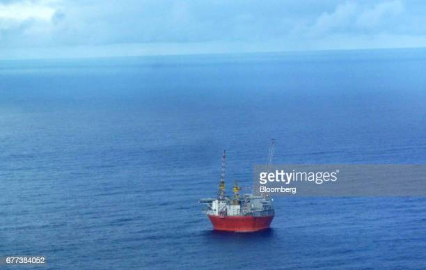 The Goliat floating oil production platform operated by ENI SpA stands in the Barents Sea off the coast of northern Norway on Monday April 24 2017...