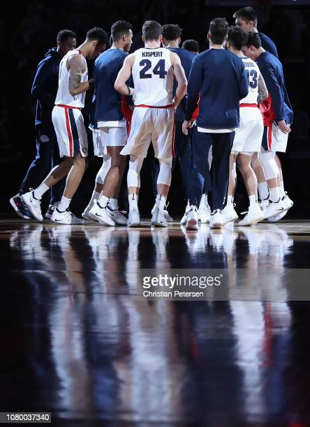 The Gonzaga Bulldogs are introduced to the game against the Tennessee Volunteers at Talking Stick Resort Arena on December 9 2018 in Phoenix Arizona...