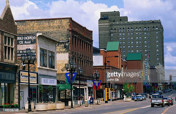the good and the bad of superior street, duluth - minnesota stock pictures, royalty-free photos & images