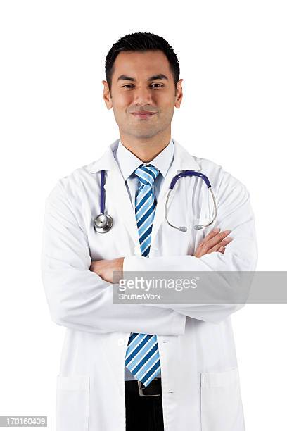the good doctor - handsome pakistani men stock photos and pictures