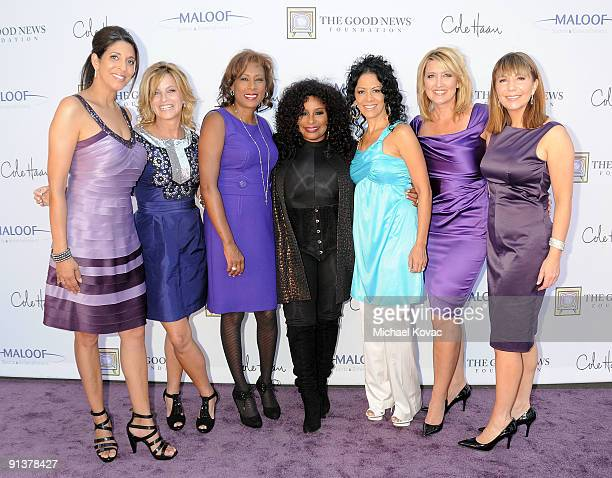 The Good News Girls appear with Shaka Khan and Sheila E at The Good News Foundation's 3rd Annual High Flying Fundraiser at Santa Monica Airport on...
