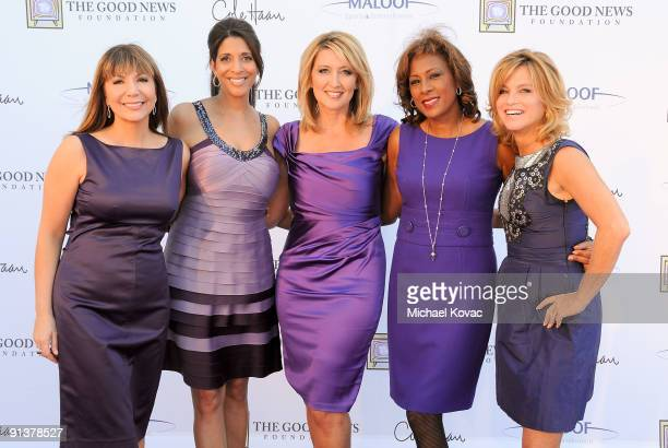 The Good News Girls including Reporters Ana Garcia Christine Devine Wendy Burch Pat Harvey and Dorothy Lucey appear at The Good News Foundation's 3rd...