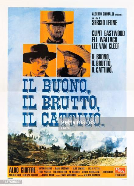 The Good, poster, THE BAD AND THE UGLY, , Clint Eastwood , Lee Van Cleef , Eli Wallach , Italian poster art, 1966.