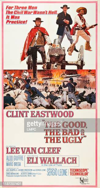 The Good, poster, THE BAD AND THE UGLY, Clint Eastwood, Lee Van Cleef, Eli Wallach, 1966.