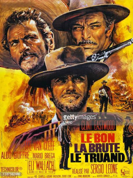 The Good, poster, THE BAD AND THE UGLY, , French poster art, Eli Wallach, Clint Eastwood, Lee Van Cleef, 1966.