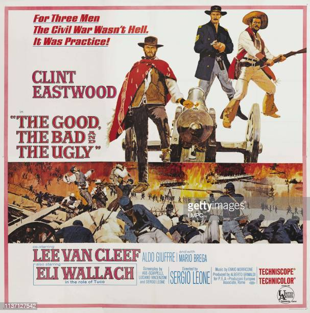 The Good poster THE BAD AND THE UGLY lr Clint Eastwood Lee Van Cleef Eli Wallach on poster art 1965