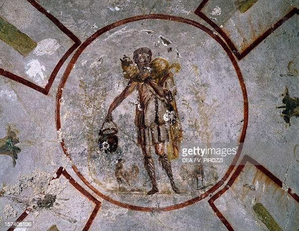 The Good Shepherd fresco Catacomb of Callixtus Rome Italy 3rd century AD