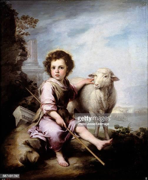 The Good Shepherd Painting by Bartolome Esteban Murillo 17th century 123 x 101 m Prado Museum Madrid