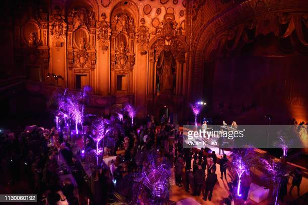 The Good Time Boys perform during Teen Vogue's Young Hollywood Party presented by Snap at Los Angeles Theatre on February 15 2019 in Los Angeles...