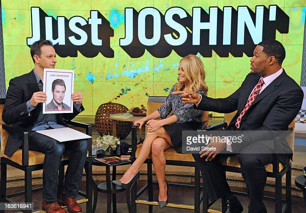 """MICHAEL 3/12/13 The Good Wife"""" star JOSH CHARLES visits today on LIVE with Kelly and Michael distributed by DisneyWalt Disney Television via Getty..."""
