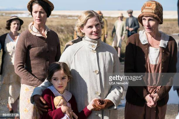 DAMNATION 'The Goodness of Men' Episode 108 Pictured Alexis McKenna as Brittany Butler Sarah Jones as Amelia Davenport