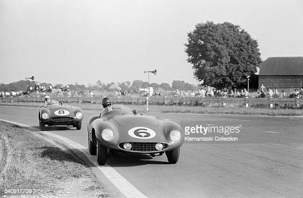 The Goodwood 9 Hours Race Goodwood August 20 1955 Alfonso de Portago's 750 Monza which he shared with Mike Hawthorn leading the 750 Sport of Jean...