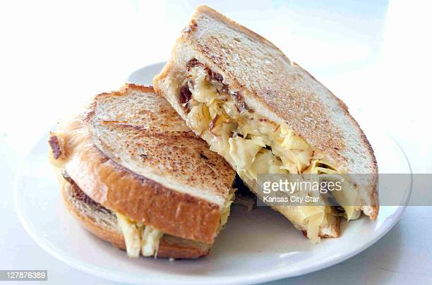 The gooey smoked gouda and artichoke heart on grilled sourdough is a creative take on the classic grilled cheese sandwich