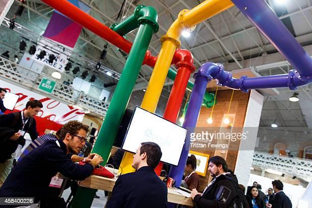 The Google cafe at the 2014 Web Summit on November 4 2014 in Dublin Ireland