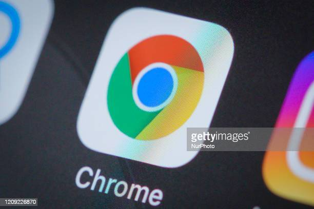 The Google Chrome browser application is seen on an iPhone 11 Pro Max in this illustration photo in Warsaw Poland on April 4 2020
