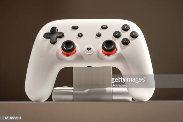 The Google game controller is displayed after an event at the Game Developers Conference in San Francisco California US on Tuesday March 19 2019...
