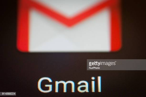 The Google Gmail mailing app is seen on an Android portable device on February 5, 2018.