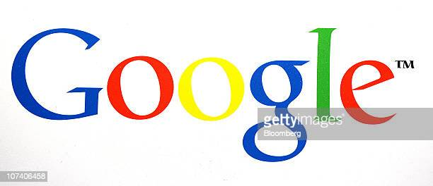 The Google Inc company logo sits on display at Le Web 2010 conference in Paris France on Wednesday Dec 8 2010 Google Inc Apple Inc and Facebook Inc...