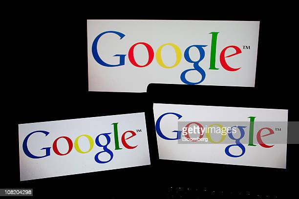 The Google Inc logo is displayed on computer LCD screens in New York US on Thursday Jan 20 2011 Google Inc owner of the world's most popular search...