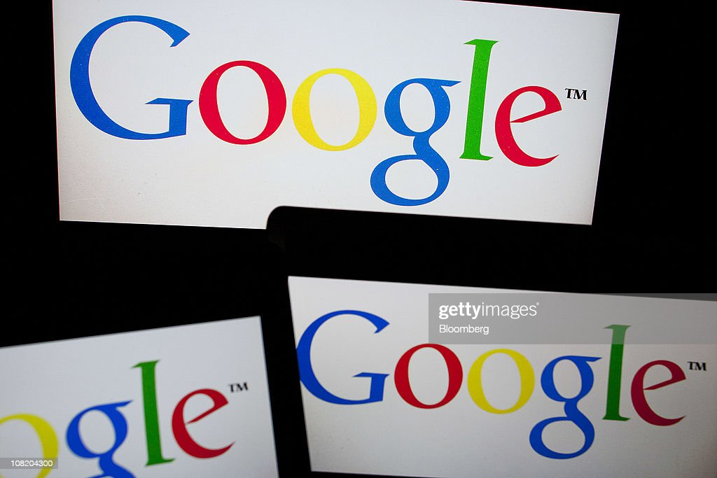 The Google Inc. logo is displayed on computer LCD screens in New York, U.S., on Thursday, Jan. 20, 2011. Google Inc., owner of the world's most popular search engine, said fourth quarter net income rose 29 percent to $2.54 billion, or $7.81 a share, from $1.97 billion, or $6.13, a year earlier. Photographer: Andrew Harrer/Bloomberg via Getty Images
