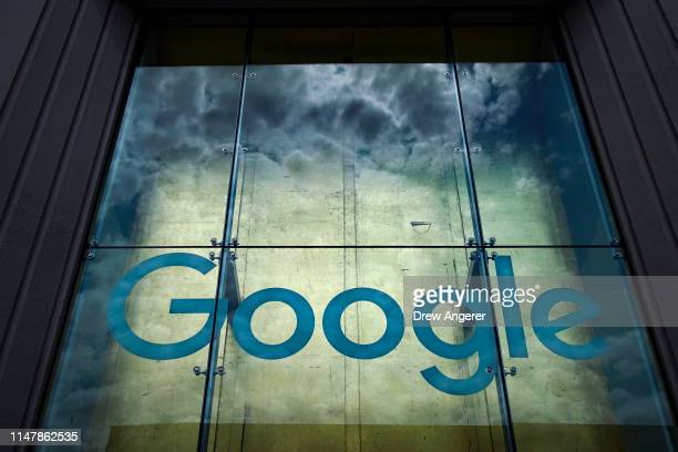 The Google logo adorns the outside of their NYC office Google Building 8510 at 85 10th Ave on June 3 2019 in New York City Shares of Google parent...