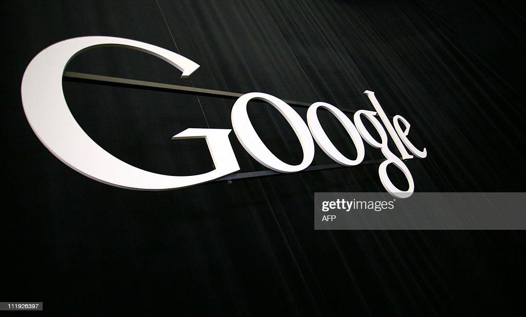 The Google logo at the Google headquarte : Nachrichtenfoto