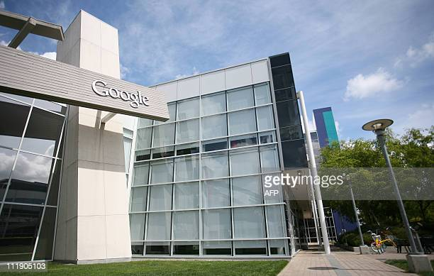 The Google logo is displayed at the Google headquarters in Mountain View California on April 7 2011 Google's entry into the online travel sector was...