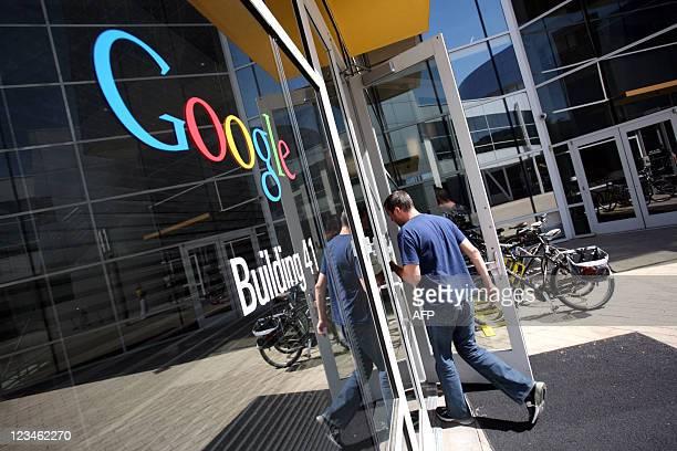The Google logo is seen at the Google headquarters in Mountain View California on September 2 2011 AFP PHOTO/KIMIHIRO HOSHINO