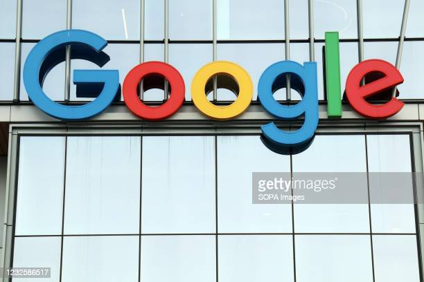 The Google logo seen at the entrance to Google Cloud campus in Seattle. Google, a division of Alphabet, announced its quarterly earnings 27th Apr...