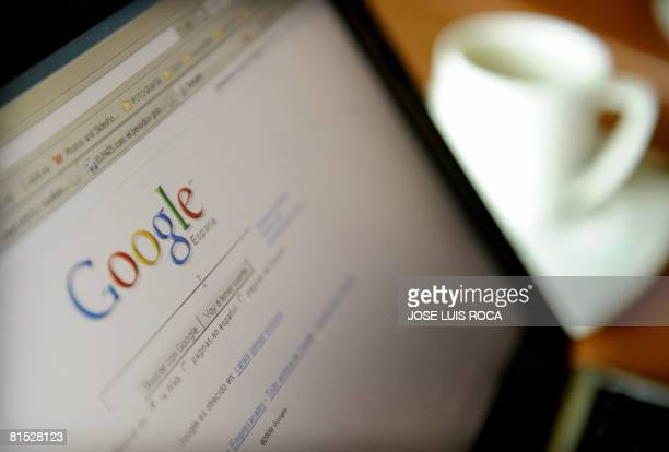 The Google website for Spain on a laptop in a cafe in Granada on June 11 2008 Internet search giant Google was on June 11 2008 awarded Spain's...