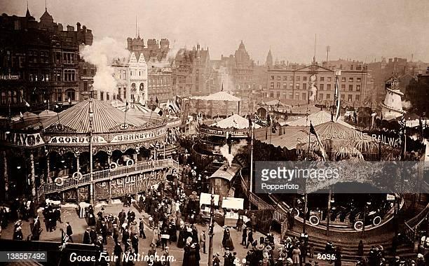 The Goose Fair at Nottingham circa 1912