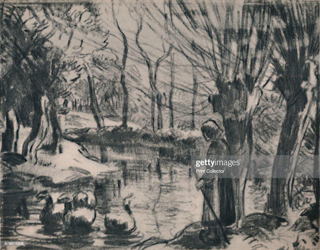 The Goose Girl Circa 1870s : News Photo