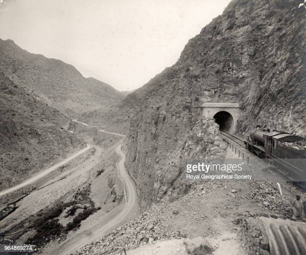 The gorge at Ali Masjid in the Khyber Pass North West Frontier Pakistan 1919
