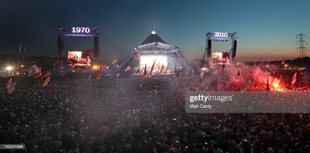 Glastonbury Music Festival: 40th Anniversary - Day 2 : News Photo