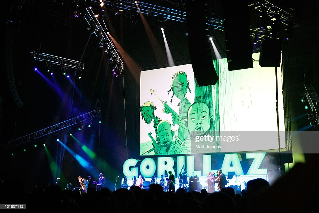The Gorillaz Perform In Perth
