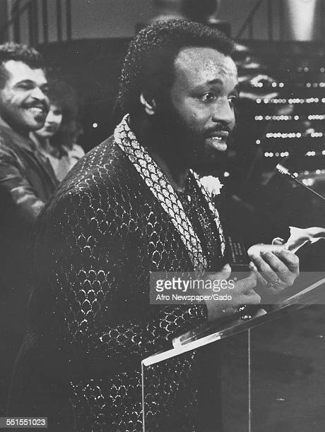 The Gospel singer Andrae Crouch at the Annual Dove Awards for Contemporary Black Gospel Music Album of the Year January 4 1977