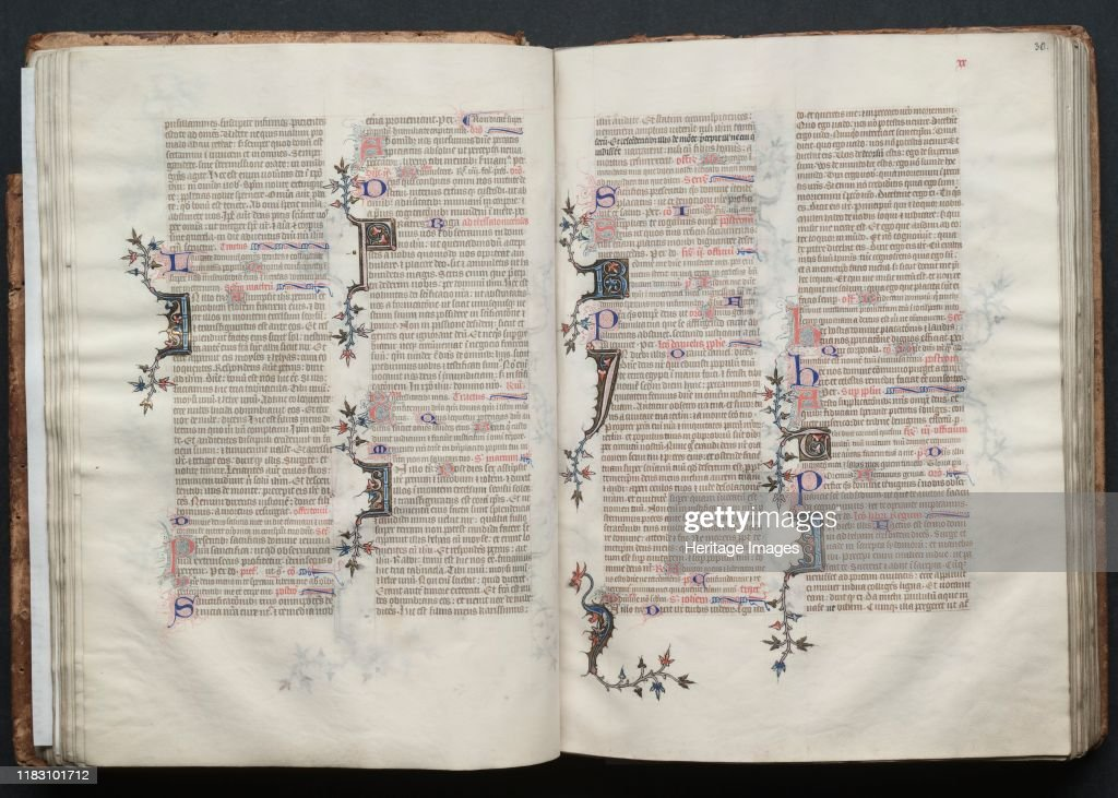Fol 30r Text Circa 1375 The Style And Quality Of This News Photo Getty Images