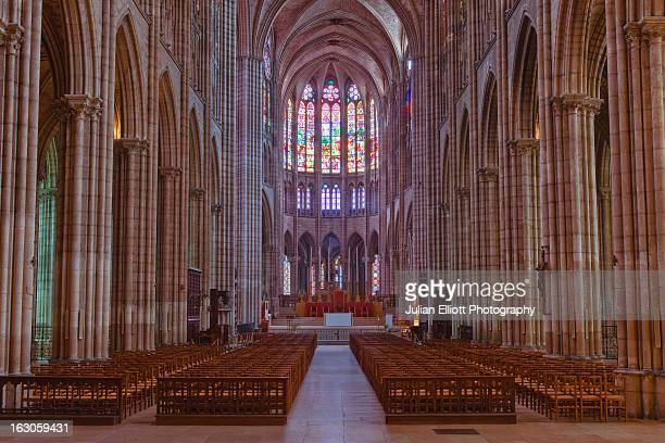 The gothic nave of Saint Denis basilica.