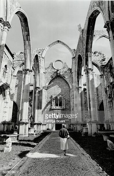 The Gothic shell of Lisbon's Large do Carmo Church which survived the 1755 earthquake has a stark beauty of its own