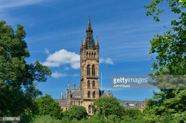 The gothic tower of Glasgow University