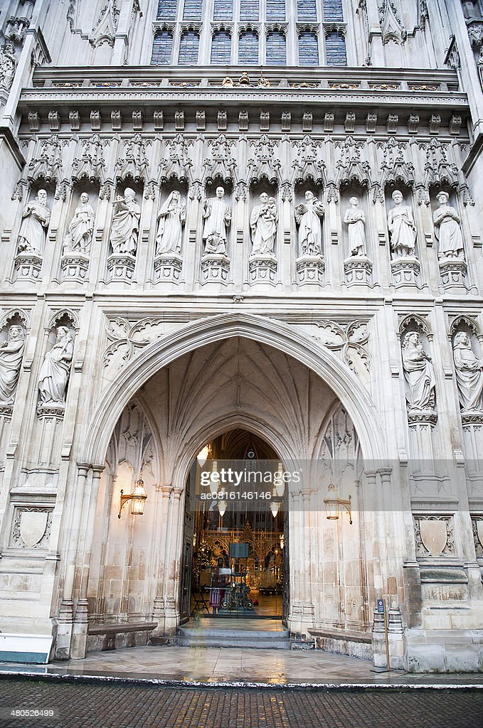 The gothic Westminster Abbey church in London, UK : Stock Photo