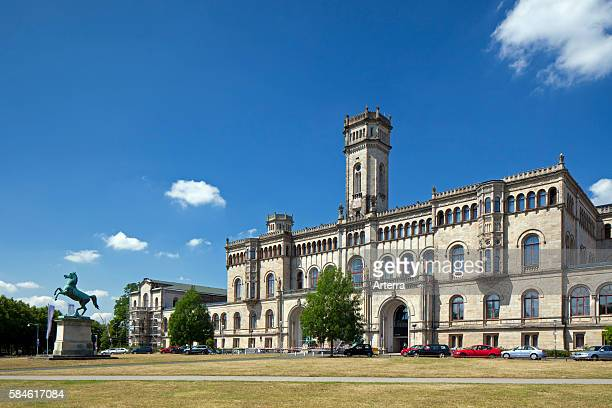 The Gottfried Wilhelm Leibniz Universitat Hannover / LUH / Guelph Palace at Hannover, Lower Saxony, Germany.