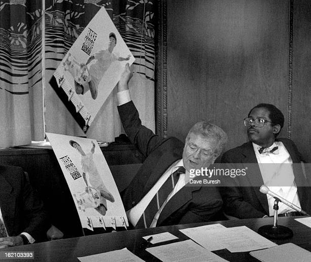 JUL 1 1989 The Gov held up the posters advertising the new Anti Drug Commercial The commercial is about Skateboarders the Gov said nobody asked me to...
